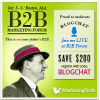 Heading to MarketingProfs B2B Forum & Social Brand Forum in October